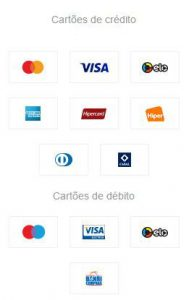 Formas de pagamento da consulta